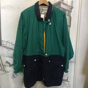 polyester cotton zip up jacket