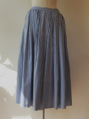 gasa grue ブルー タックギャザースカート