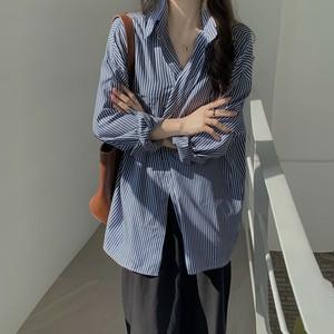 2020SS オーバーサイズ・ロング丈ストライプシャツ