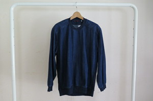BLUE BLUE  ストレッチデニムリブ プルオーバーシャツ