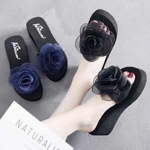 厚底リボンサンダル❤一輪の可憐なバラがあなたの足元を素敵にします! hdfks961309