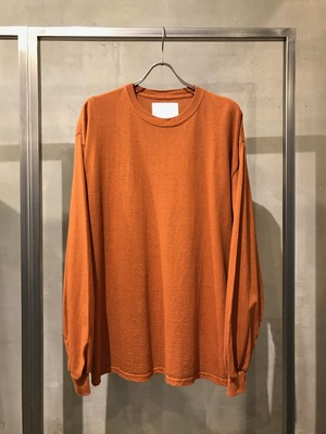 TrAnsference loose fit long sleeve T-shirt - orange(dull)