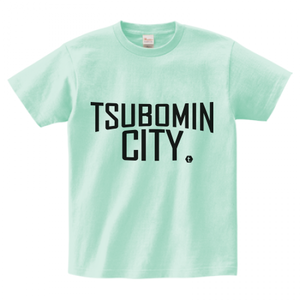 TSUBOMIN / TSUBOMIN CITY T-SHIRT ICE-GREEN