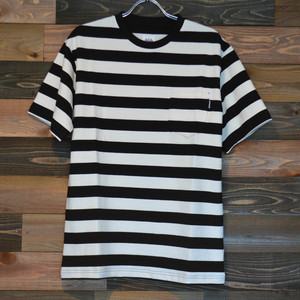 """BWG """"SPECIAL BORDER T-SHIRTS"""" OFF WHITE/BLACK"""