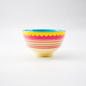 rice melamine bowl メラミンボウル <striped>
