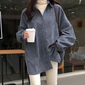 【トップス】ファッションカジュアルシンプルコーデュロイシャツ