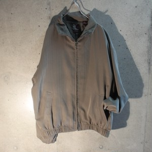 Silk Rayon High Neck Gray Beige Blouson