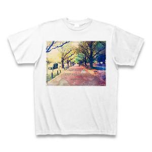 『私の歩みは遅いが、歩んだ道を引き返すことはない。』 Tシャツ(白)