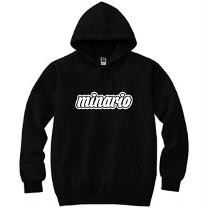 minario / BACKPACK HOODED SWEATSHIRT BLACK