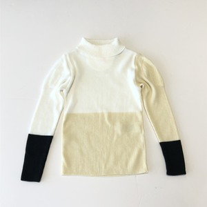 【20AW】フランキーグロウ ( frankygrow ) MULTICOLOR SWELL SHOLDER HIGH-NECK KNIT[ S / M / L ]white ivory blackトップス タートルニット
