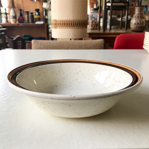 Carrigaline Pottery Hand Painted Deep Plate / Large 70's アイルランド
