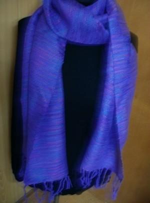 【1000円値引き】さをり織りマフラーM38