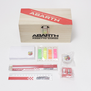 ABARTH WOODEN PENCIL BOX
