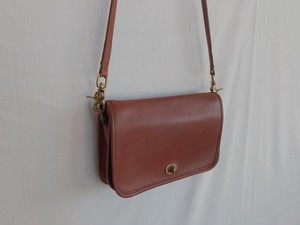 "AMERICA 1990's OLD COACH ""LIGHT BLOWN Leather"" shoulder bag"