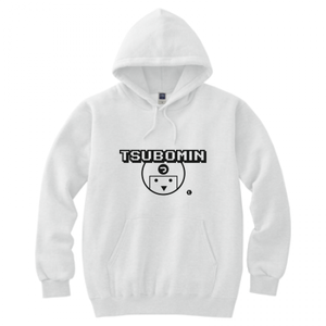TSUBOMIN / TSUBOMIN ICON HOODED SWEATSHIRT WHITE
