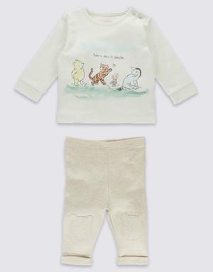 Marks&Spencer ロンT&パンツセット Winne the Pooh