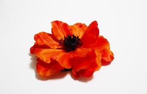 ヘアコサージュ(造花)*アネモネ01*ダークオレンジ
