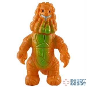 ブルマァクミニソフビウルトラ怪獣 ダンガー オレンジ成形 緑スプレー
