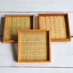 橋本晶子 トレイ(正方形18x18cm)