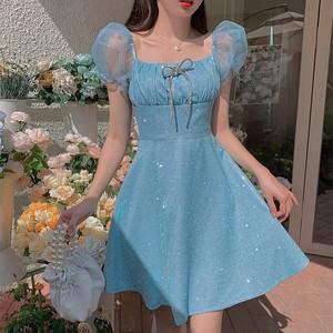 blue color summer dress