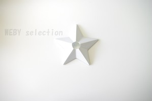 H&M HOME キャンドルホルダー 星<ホワイト>
