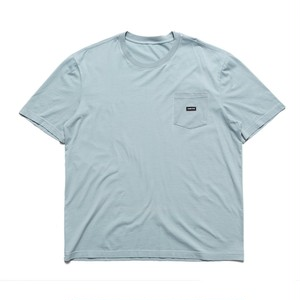 CHRYSTIE NYC Small patch pocket T-shirt_Stone Blue L