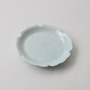 【SL0049】磁器 10cm 小皿 ブルー