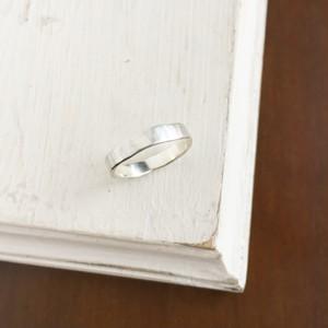 【マットシルバーリング・指輪】ヴィンテージな槌目 フラット・ペアリングにも人気