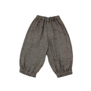 ウールリネン*裾絞りパンツ