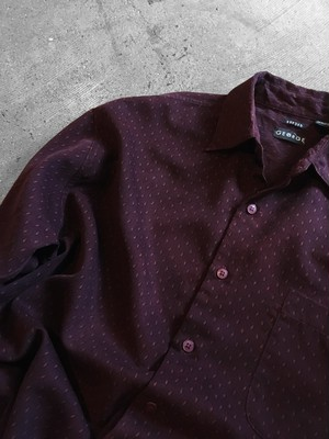patterned sueded shirt