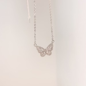 butterfly necklace(Silver)
