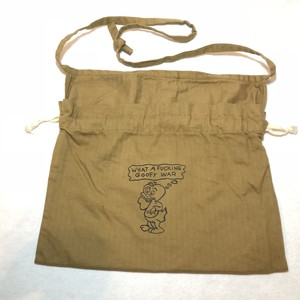 "3-Way Red Cross Bag, Khaki, ""What A Fucking Goofy War"""
