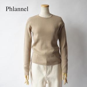 Phlannel/フランネル・Super Fine Wool Random Rib Knit Pullover