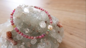 Pearl & Inca Rose Beads Bracelet