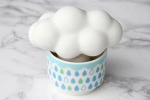 雲の加湿器:ホワイト雲×グリーン系カップ・・・スウセラ(sucera)