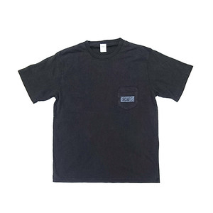 scar /////// BLACKBOX PIGMENT DYED POCKET TEE (Black)