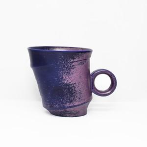 鮮烈なパープルカラー変形型マグ 陶芸作家【古賀崇洋】Mug Cup マグカップ ver.02 (Purple)