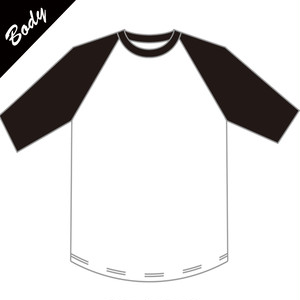 【BODY】カスタム用ラグランTシャツ