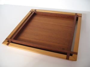 トレースクウェア (M) チーク tray square (M) teak