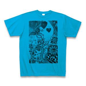 【Tシャツ】ターコイズ色「ユラユラリ」