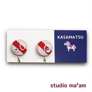 ■KASAMATSU-13 イヤリング。まる。〜ピアス変更可〜