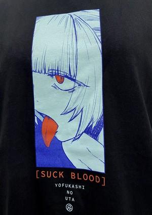 〈よふかしのうた〉SUCK BLOOD Tシャツ
