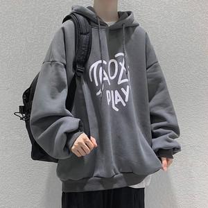 【セット】[単品注文]ファッション プリント フード付き パーカー+ カジュアル ズボンセットアップ37297987
