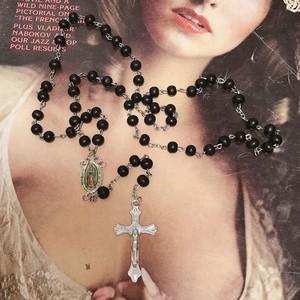 dark Rosey maria♡necklace / black