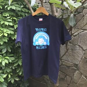 テンテンレコーズ ロゴTシャツ 紺×水色 (残 S1)