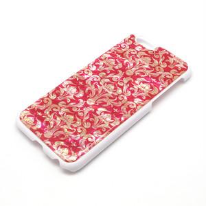 [天然貝ケース] iPhone全機種対応 iPhoneケース(ダマスクピンク・白カバー)<螺鈿アート>【ラッピング対応】
