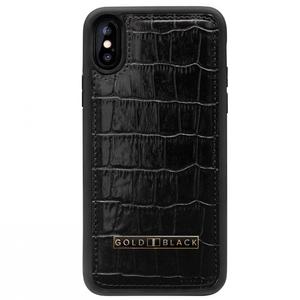 ゴールドブラック(GOLDBLACK) iPHONE XR CASE CROCO BLACK 19110