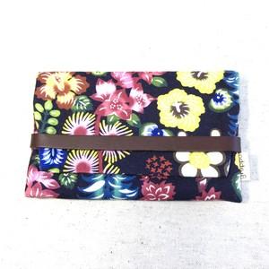 名刺 / カードケース 紅型デザイン 花咲く庭 夜