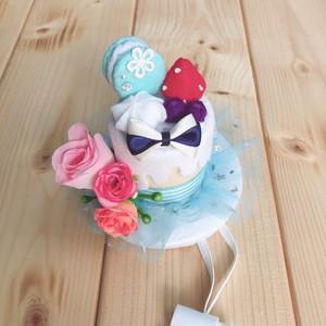 ◆小さめサイズ◆ケーキ型シルクハット ブルーVer.