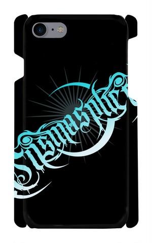 【Cosmosphere】オリジナル ロゴ iPhone7 ハードケース (黒×青)【ダイレクト出店限定】
